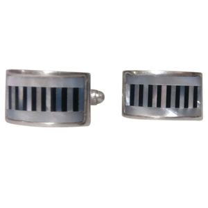 🇨🇦 Sterling silver cufflinks w/ mother of pearl